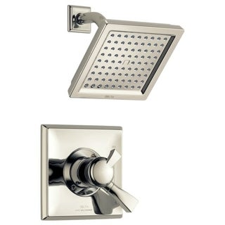 Delta T17251-WE Dryden Pressure Balanced Shower Only Trim Package with 2.0 GPM Single Function Shower Head and Touch Clean (Option: Chrome Finish)