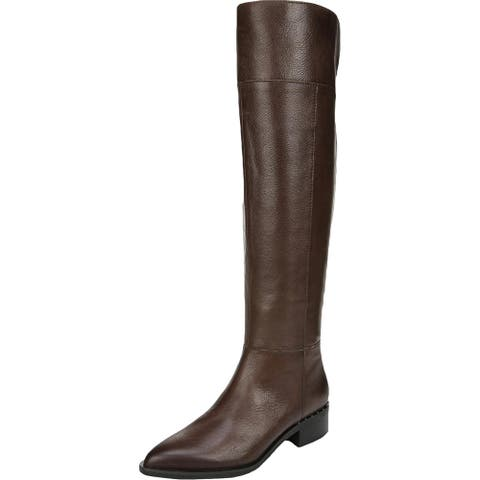 Franco Sarto Womens Daya Over-The-Knee Boots Faux Leather Pointed Toe