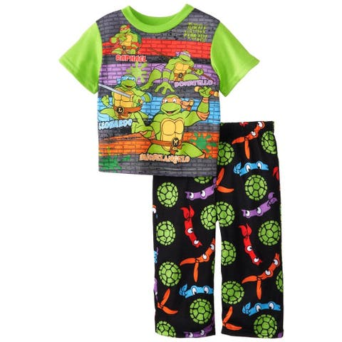 Nickelodeon Boys 2T-4T TMNT Sleep Set - Green