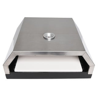 Zenvida Grill Top Pizza Oven with Stone for Gas or Charcoal Grill