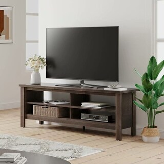 """Link to Farmhouse Wood TV Stand for 65 inch Flat Screen,Entertainment Center - 59"""" Similar Items in TV Consoles"""