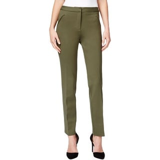 Tahari ASL Womens Plus Dress Pants Ponte Comfort Waist