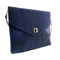 HS1154 BJ FULVIA Blue Jeans Leather Clutch/Shoulder Bag - 15-10-1