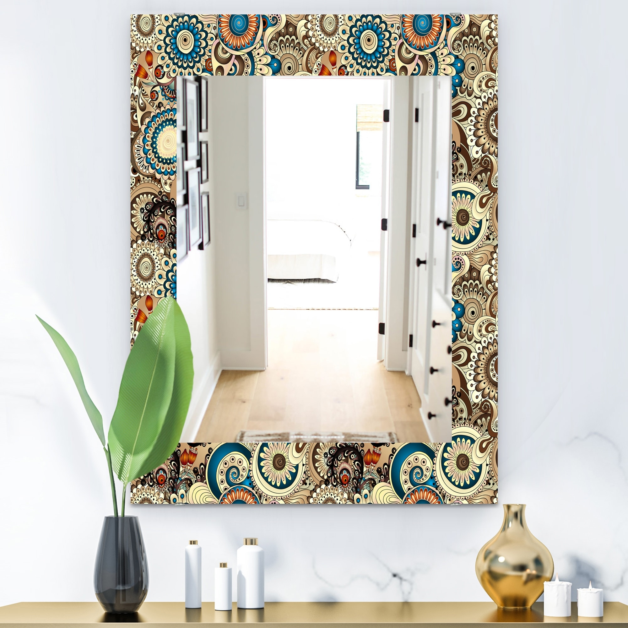 The Curated Nomad Paisley 10 Mid Century Modern Vanity Mirror Overstock 28558169