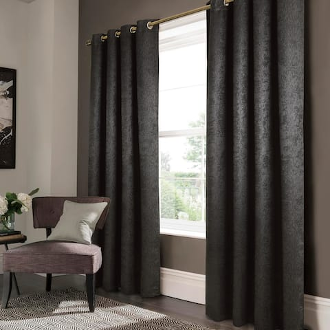 """Lina Matte Embossed Blackout Grommet Panel 90"""" - (1x) 52 x 90 in."""