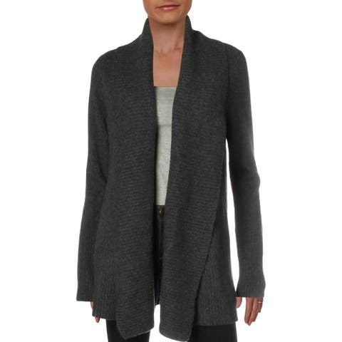 Private Label Womens Duster Sweater Cashmere Open Front - Charcoal - L