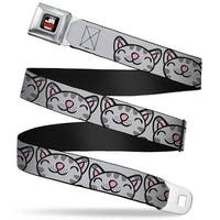 The Big Bang Theory Full Color Black White Red Soft Kitty Face Close Up Seatbelt Belt