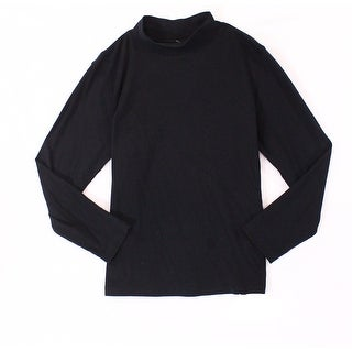 St. Johns Bay Black Mens Size XL Mock-Neck Long Sleeve Knit Sweater