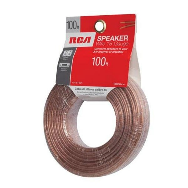 GE/RCA RCAAH18100RB RCA 18-Guage Speaker Wire - 100 Feet