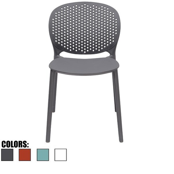 2xhome Outdoor Indoor Plastic Armless Dining Pool Chair Matte Finish