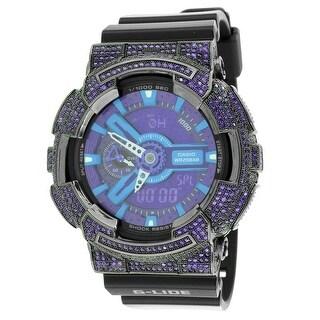 G-Shock Watch GAX100B-1A Purple Lab Diamonds Men Womens Resin Band Analog-Digital