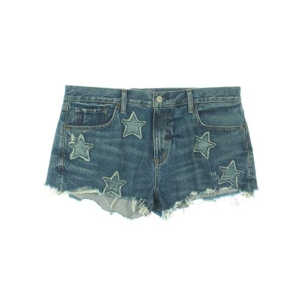 63109cd8e Denim  amp  Supply Ralph Lauren Womens Shorts Boyfriend Star Patchwork