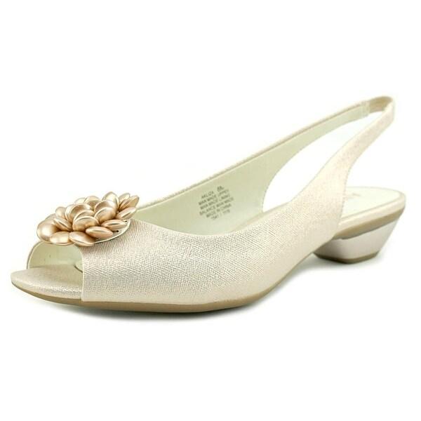 Anne Klein Liza Women Peep-Toe Synthetic Pink Slingback Heel