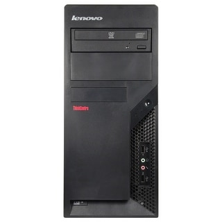 Refurbished Lenovo ThinkCentre M58P Tower Intel Core 2 Quad Q8200 2.33G 8G DDR3 1TB DVDRW Win 7 Pro 1 Year Warranty - Black