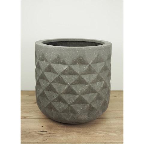 Pyramid 19-Inch Fiberstone Planter Pot