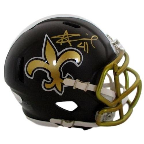 new products 9f6be 17e9b Alvin Kamara Signed New Orleans Saints Blaze Mini Helmet JSA ITP