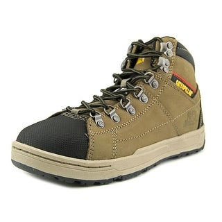 Caterpillar Brode Hi Men Round Toe Leather Tan Work Boot