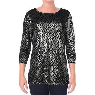 Marina Rinaldi Womens Anatolia Wool 3/4 Sleeves Sweater - M