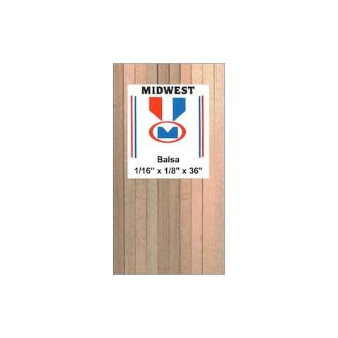"Midwest Balsa Strips 1/16 x 1/8 x 36"""