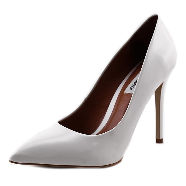 Steve Madden Protoo Women Pointed Toe Leather White Heels
