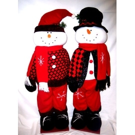 Outdoor christmas decorations shop the best deals for for 36 countdown to christmas snowman yard decoration