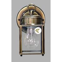 """Volume Lighting V9270 Energy Saving Outdoor 1-Light 8"""" Height Outdoor Wall Sconce with Clear Glass"""