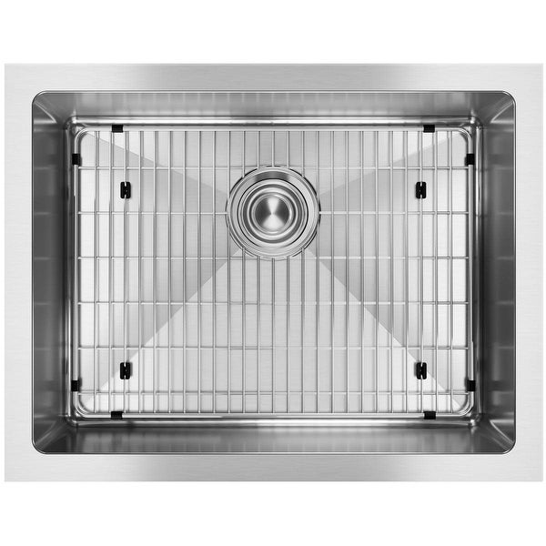 "Elkay EFRU2115TC Crosstown 23-1/2"" Undermount Single Basin Stainless Steel Kitchen Sink with Sound Dampening - Stainless Steel"