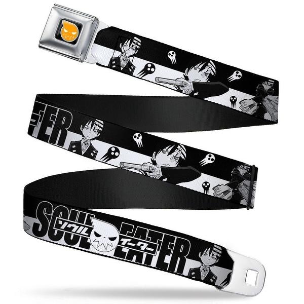 Soul Eater Logo Full Color Black Orange Soul Eater Death The Kid 3 Poses Seatbelt Belt