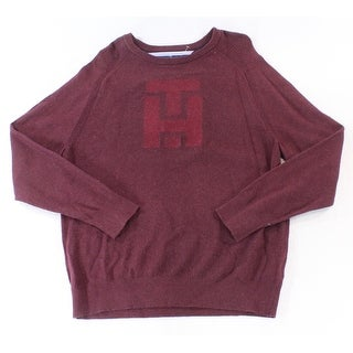 Tommy Hilfiger NEW Red Port Mens Size 2XL Crewneck Printed Sweater