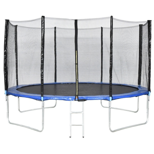 14 Ft Trampoline Combo Bounce Jump Safety W Spring Pad: Shop Gymax 13 FT Trampoline Combo Bounce Jump Safety