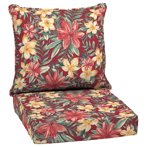 Arden Selections Ruby Clarissa Tropical Outdoor Deep Seat Cushion Set - 24 W x 24 D in.