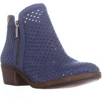 Lucky Basel3 Perforated Ankle Boots, Dark Chambray