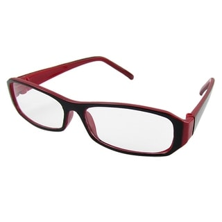 Ladies Rectangular Plastic Frame Clear Lens Eyeglasses