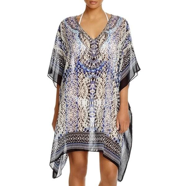 41b9986318 Shop Parker Beach Womens Embellished Printed Kimono Swim Cover-Up ...