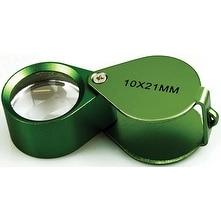 10x21MMA?Jewelers Loupe Plastic Box Green