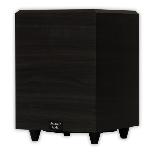 """Acoustic Audio PSW8 Home Theater Powered 8"""" Subwoofer Black Down Firing Sub"""