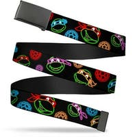 Blank Black  Buckle Classic Tmnt Electric Expressions Turtle Shells Web Belt