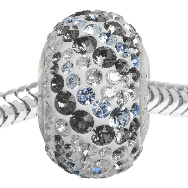 Swarovski Elements Crystal BeCharmed, European Style Large Hole Pave Bead 14mm, 1 Piece, Air Mix