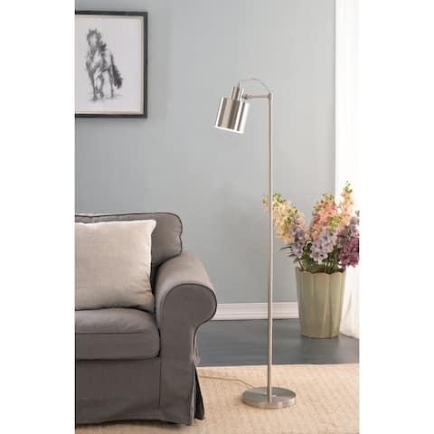 Brooks 57-inch Brushed Steel Floor Lamp