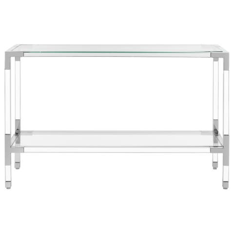"""SAFAVIEH Couture High Line Collection Arverne Acrylic Silver Console Table - 47"""" W x 15.5"""" L x 30"""" H"""