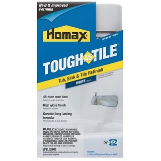 Homax 3157 Tough As Tile Epoxy Enamel Spray Paint, 32 Oz, White