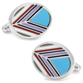 Chevron Oval Turquoise Cufflinks|https://ak1.ostkcdn.com/images/products/is/images/direct/8653cad1e75011f4a99c23095e9f913524983247/Chevron-Oval-Turquoise-Cufflinks.jpg?impolicy=medium