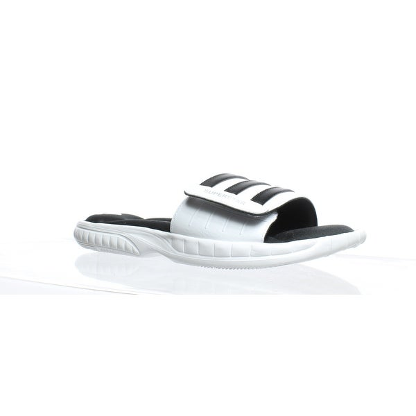 dfe402711d1a Shop Adidas Mens Superstar 3G White Slides Size 10 - Free Shipping Today -  Overstock - 27913769