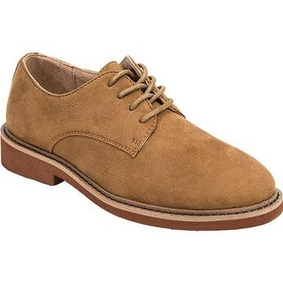 Deer Stags Boys' Denny Plain Toe Oxford Chestnut Microsuede