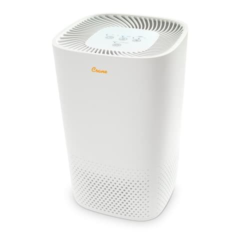 Crane True HEPA Air Purifier with UV Light for Rooms up to 250 sq. ft.