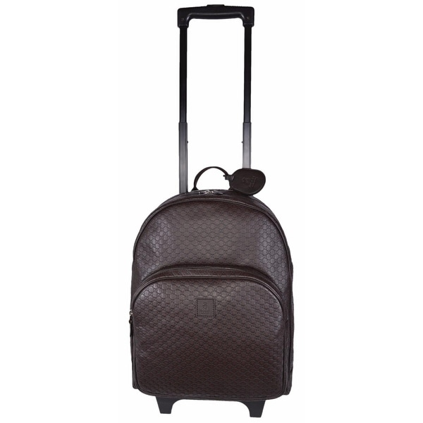 7f5da61f63a8 Shop Gucci Children's Leather GG Guccissima Wheeled Trolley Backpack  Suitcase - Free Shipping Today - Overstock - 15076964