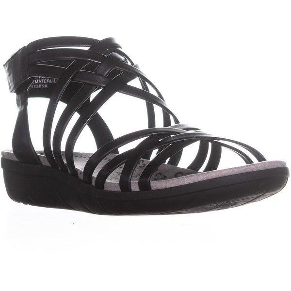 BareTraps Janny Strappy Gladiator Sandals, Black - 9 us