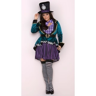Plus Size Delightful Hatter Costume