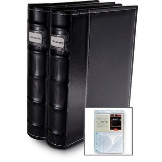 Bellagio-Italia BlackCD/DVD Binders 2 pack with 8 Bonus Insert Sheets