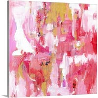 Pamela J. Wingard Premium Thick-Wrap Canvas entitled Abstract Dream Pink Gold